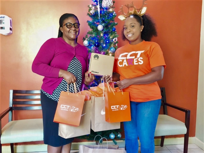 CCT donates Christmas gifts and LTE modem with complimentary internet service to the residents of the Rainbow Children's Home on Thursday, December 20, 2018. (Photo Credit CCT)