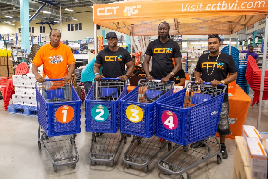 CCT 'Daddy's Day Dash' participants geared up to dash through the aisles of CTL Home Center on Saturday, June 16.