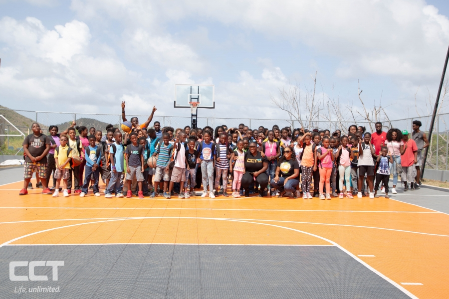 CCT's Marketing team presented the children of the non-profit Youth Empowerment Programme (YEP) with backpacks, school supplies and ended the day with a basketball game challenging a few of the students at a one on one.